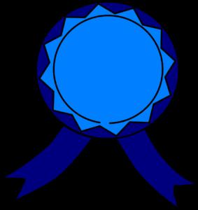 graficzny obraz kotylionu w kolorze niebiesko-granatowym